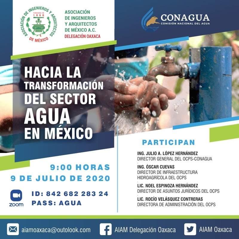 Oaxaca: Presenta Conagua los lineamientos para avanzar hacia la transformación del sector agua en México (NSS Oaxaca)