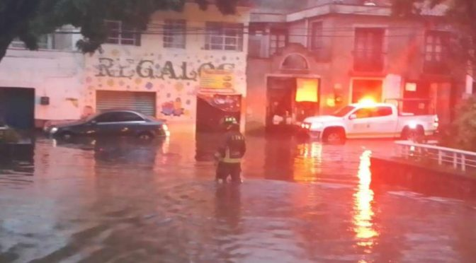 CDMX: Deja tormenta inundaciones, bajadas de agua, árboles caídos… (Excélsior)