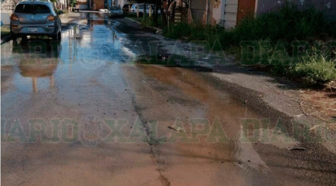 Veracruz: Tiene días una fuga de agua en fraccionamiento de Veracruz. (Diario de Xalapa)