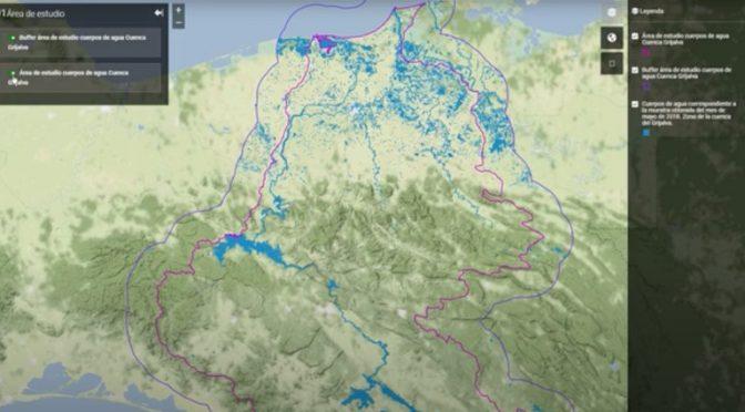 Chiapas y Tabasco: Estudio de la UAM, con imágenes satelitales, detectó la reducción de 30% de cuerpos de agua en Río Grijalva. (Infobae)