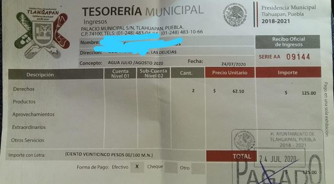 Puebla: En Tlahuapan vecinos exigen suministró de agua potable. (Municipios)