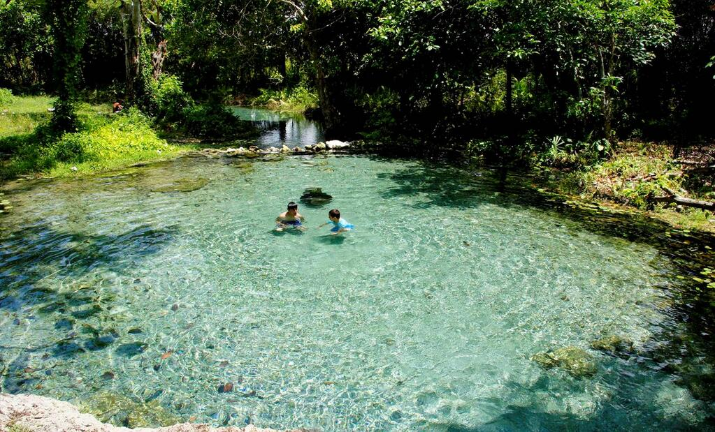Quintana Roo: Reportan bajo nivel de agua en balnearios de la Ribera del Río Hondo (Por Esto)
