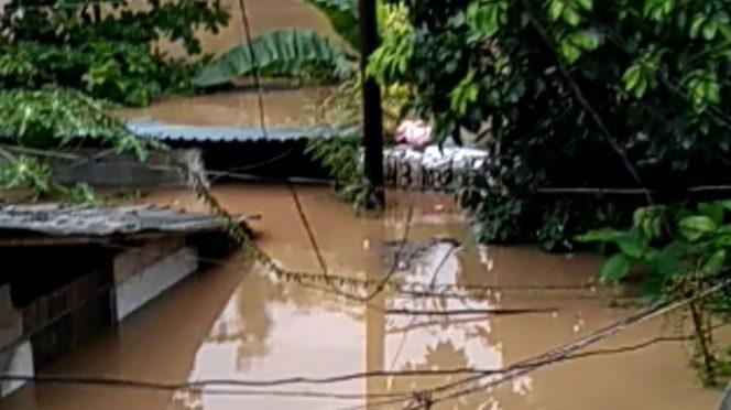 Viviendas quedan bajo el agua tras desbordamiento de río en Hidalgo (Excelsior)