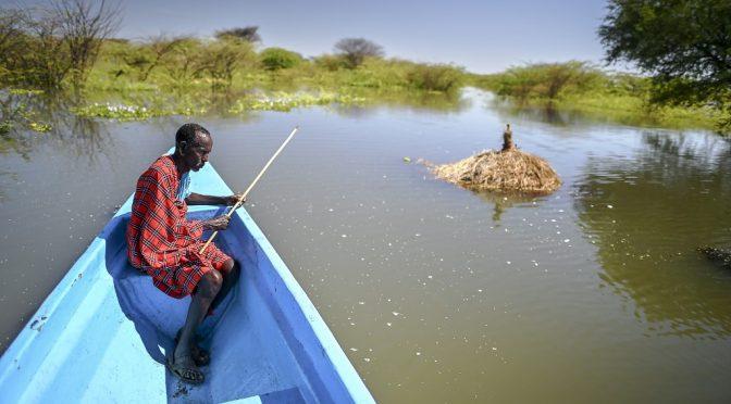 Preocupación por la crecida alarmante de los lagos de  Kenia (La Nacion)