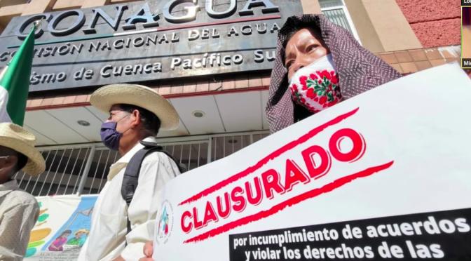 Pueblos zapotecos exigen cumplir con acuerdos sobre uso de su agua (El Universal)