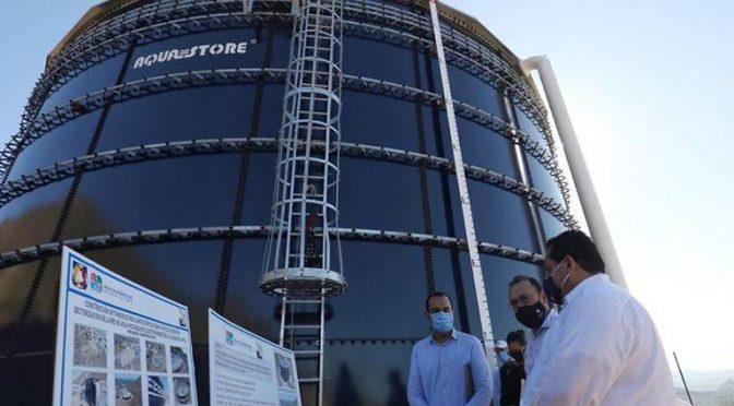 Beneficiará tanque suministro de agua a 17 mil habitantes (El sudcaliforniano)