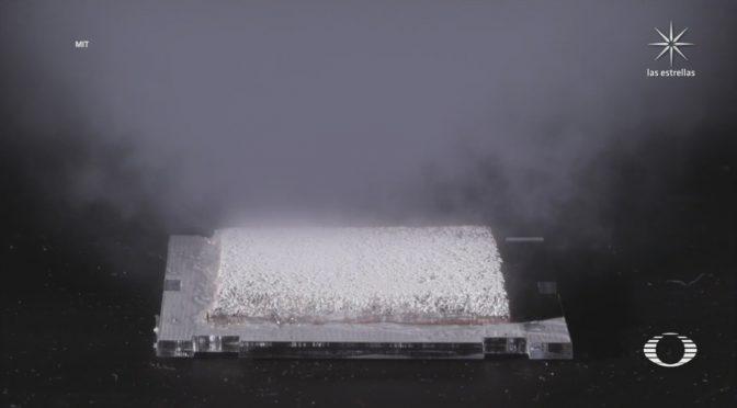 Científicos crean dispositivo para recolectar agua del aire y convertirla en potable (Televisa News)