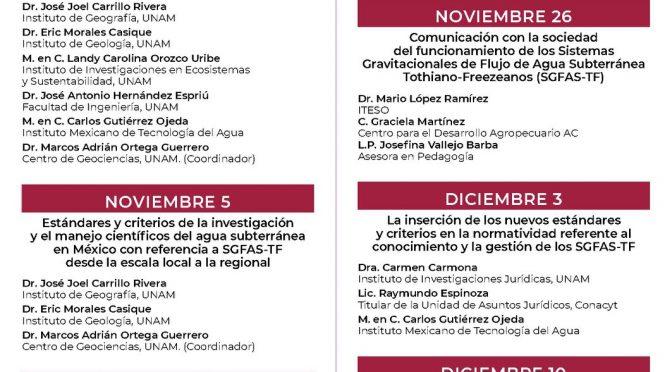 """PRONACES agua """"Necesidad de fundamentar el conocimiento y la gestión del agua subterránea en México en la investigación avanzada del funcionamiento de los SGFAS-TF"""""""