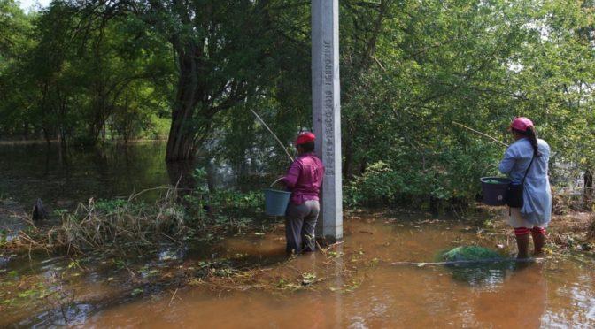 Conagua extrae 12.5 millones de metros cúbicos de agua anegada en Tabasco