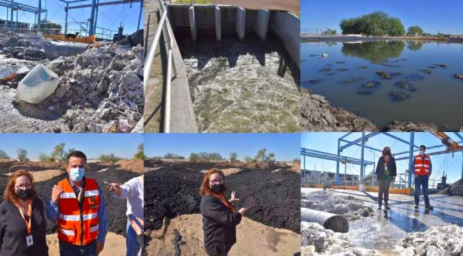 Hay heces fecales y contaminación en el cauce del Río Sonora por Planta Tratadora de Aguas Residuales: Ayuntamiento de Hermosillo (Proyecto puente)