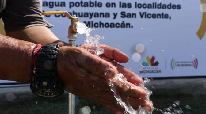 Una realidad, 350 obras de agua en Michoacán, desde 2015 (QUADRATIN)