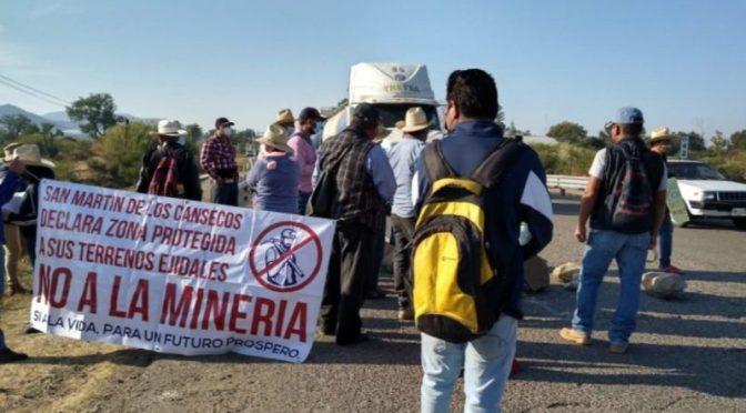 Con bloqueo carretero, exigen negar la ampliación a proyecto de minera en Oaxaca (Proceso)
