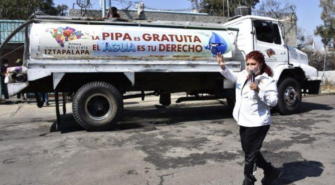 Iztapalapa ha distribuido mil 520 millones litros de agua durante 2020 (EL HERALDO)