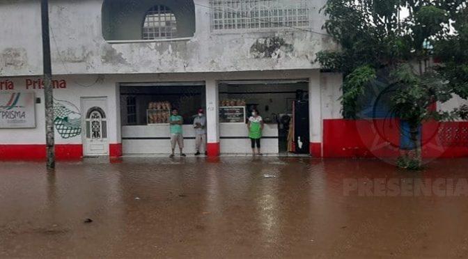 Se inundan colonias de Agua Dulce tras lluvias (La Silla Rota Veracruz)