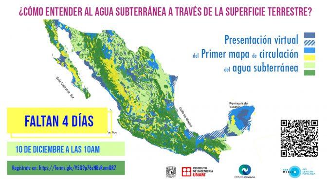 Presentación del primer mapa nacional de evidencia de la dinámica del agua subterránea