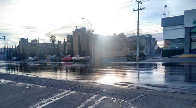 Denuncian fuga de agua en la Politécnico esta mañana (Tiempo)