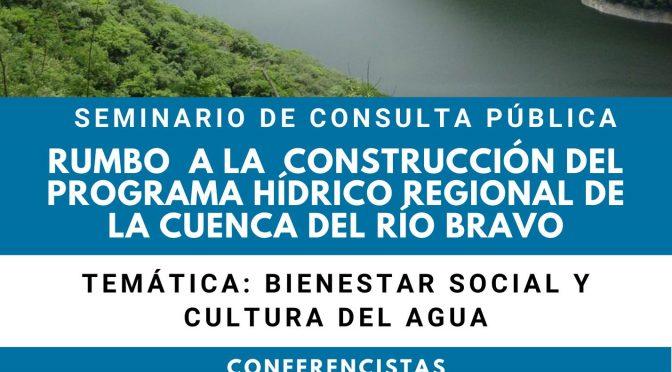 Primer Seminario en línea: Rumbo a la Construcción del Programa Hídrico Regional de la Cuenca del Río Bravo.