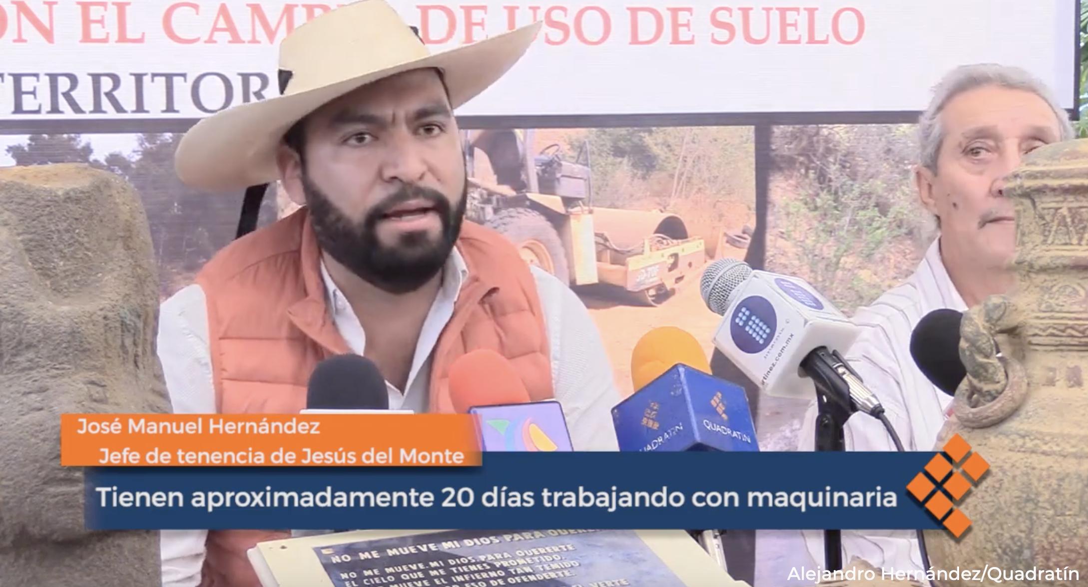 Morelia: Acusan ecocidio en Jesús del Monte; exigen frenar fraccionamiento (Quadratín)