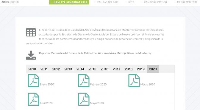 Monterrey: Reportes de calidad del aire no están completos (ABCNoticias)