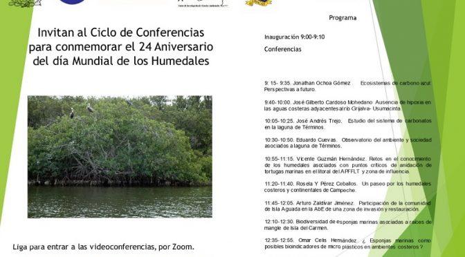 Ciclo de Conferencias- 24 Aniversario Día Mundial de los Humedales