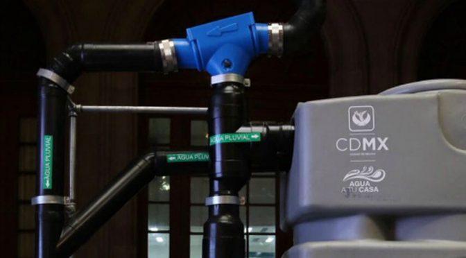 En CdMx, sistemas de captación de agua llegarán a 477 colonias en 2021 (Milenio)