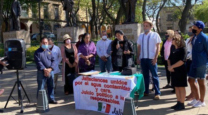 Jalisco: Ciudadanos piden juicio político contra alcaldes por mala calidad del agua (El Diario NTR)