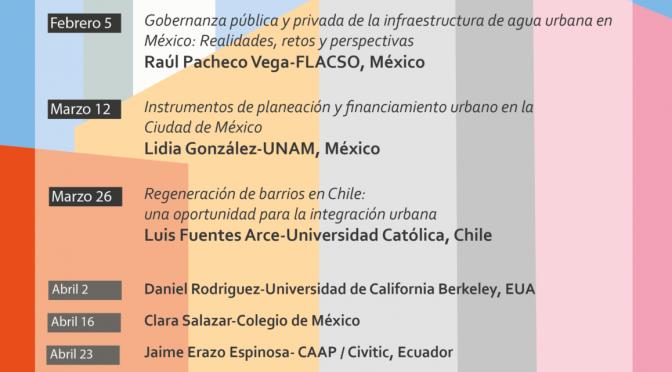 UCLA Ciudades serie de seminarios 2021- Planeación Urbana en América Latina: Visiones y nuevas investigaciones