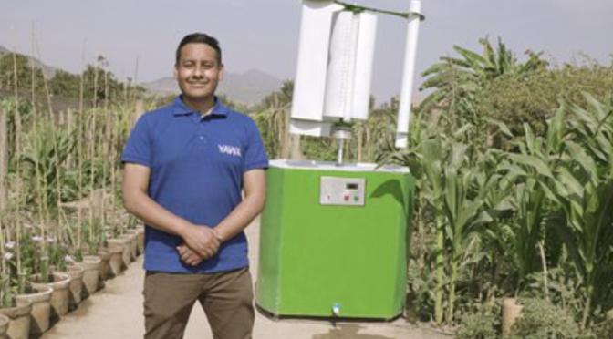 Yawa, tecnología hecha en Perú que convierte el viento en agua (Infobae)