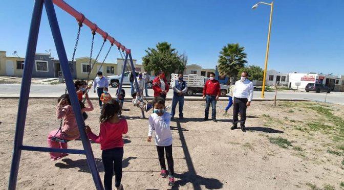 Durango: Rehabilitan, con ayuda de los vecinos, área verde en Gómez Palacio (El Sol de la Laguna)