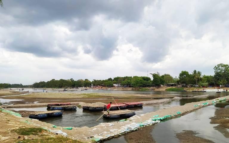 Falta de lluvia seca al río Suchiate (El Sol del Bajío)