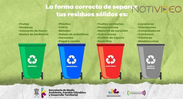 Michoacán: Separación de residuos sólidos urbanos, vital para proteger el medio ambiente (notivideo)