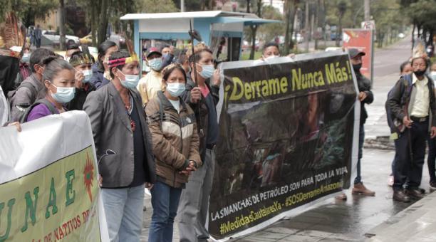 Ecuador: Comunidades indígenas realizaron un plantón para exigir atención de la justicia (El Comercio)