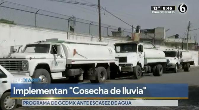 CDMX: Implementarán programa 'Cosecha de lluvia 2021′ en CdMx para enfrentar escasez de agua (TeleDiario)