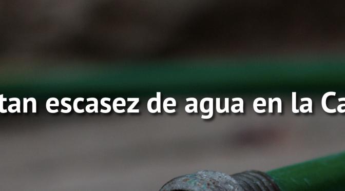 CDMX: Reportan escasez de agua en la Capital (NTR Zacatecas)