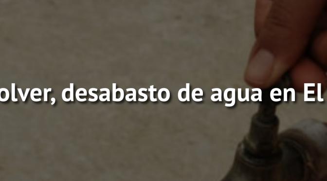 Zac: Sin resolver, desabasto de agua en El Mineral (NTR Zacatecas)