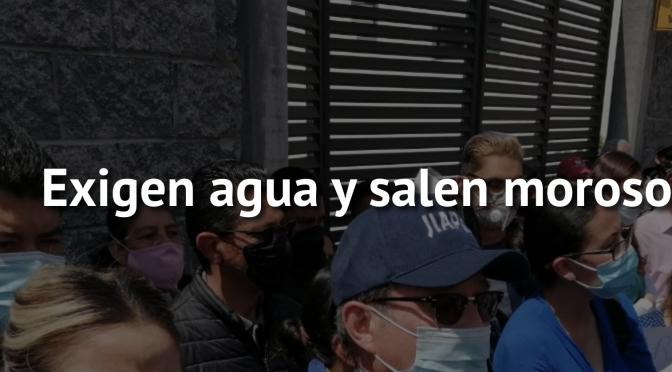 Zac: Exigen agua y salen morosos (NTR Zacatecas)