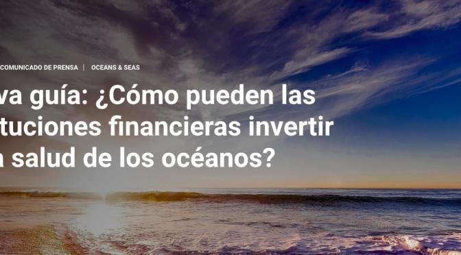 Nueva guía: ¿Cómo pueden las instituciones financieras invertir en la salud de los océanos? (unep.org)