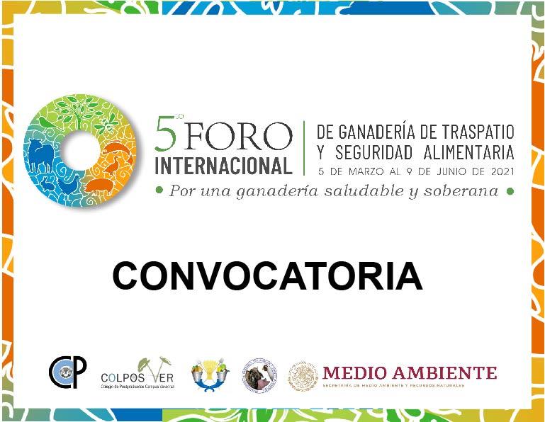 Convocatoria V Foro Internacional de Ganadería de Traspatio y Seguridad Alimentaria