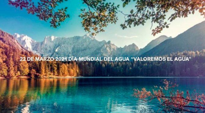 """22 de Marzo de 2021 Día Mundial del Agua: """"Valoremos el Agua"""" (iagua.es)"""