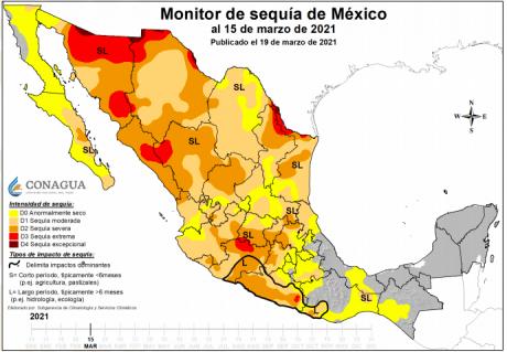 Valle de México: ¡Sequía severa en México! Cutzamala con menos de 50% de almacenamiento (EXCELSIOR)