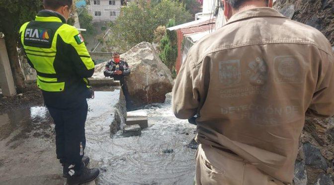Sacmex repara fuga de agua en Álvaro Obregón (adn40.mx)