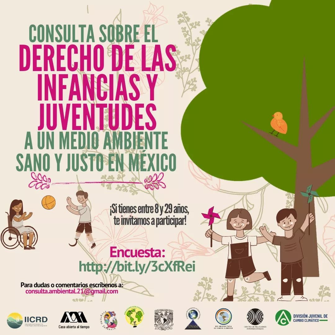 Consulta sobre el Derecho de las Infancias y Juventudes a un Medio Ambiente Sano y Justo en México