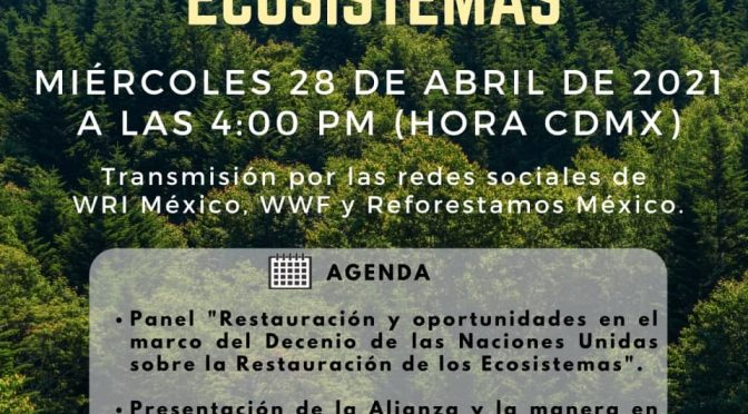 Reforestamos México, A. C. – Lanzamiento de la Alianza Mexicana por la Restauración de Ecosistemas