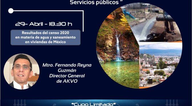 """AKVO- Censo de Población y Vivienda 2020 """"Gestión circular del agua: Servicios Públicos"""""""