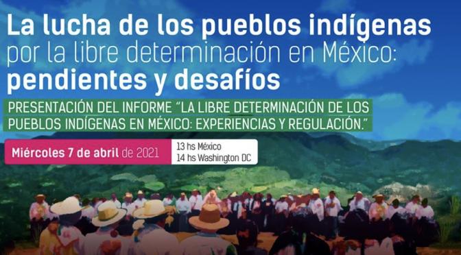 """ALDEA: Presentación del informe """"La libre determinación de los pueblos indígenas en México: experiencias y regulación"""""""