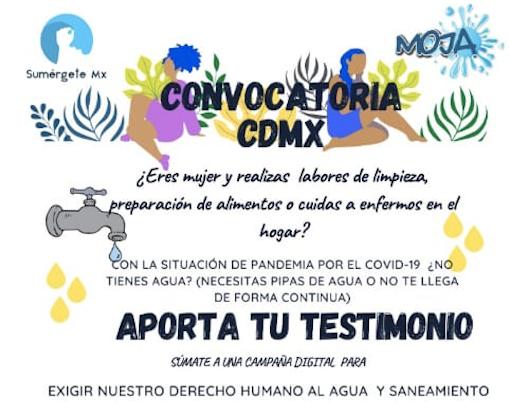 Convocatoria CDMX- agua mujeres
