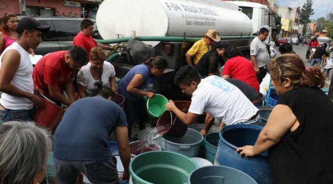 CDMX: Disminuye abasto de agua por mancha urbana nada permeable y consumo excesivo del líquido (Vorágine)