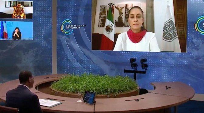 CDMX: Sheinbaum convoca a la cooperación para disminuir el cambio climático (TeleDiario)