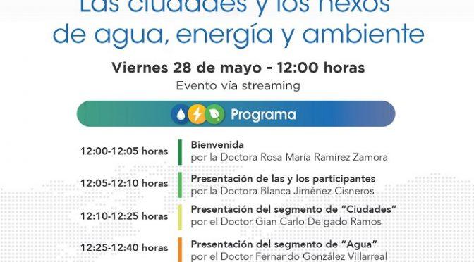"""Instituto de Ingeniería UNAM- Mesa redonda """"Las ciudades y los nexos de agua, energía y ambiente"""""""