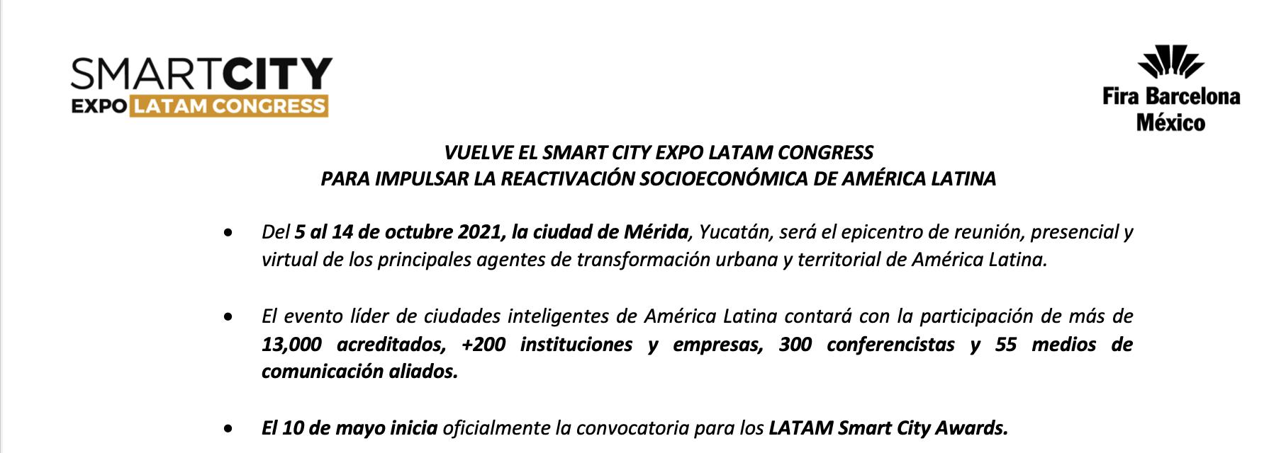 LATAM Smart City Awards 2021